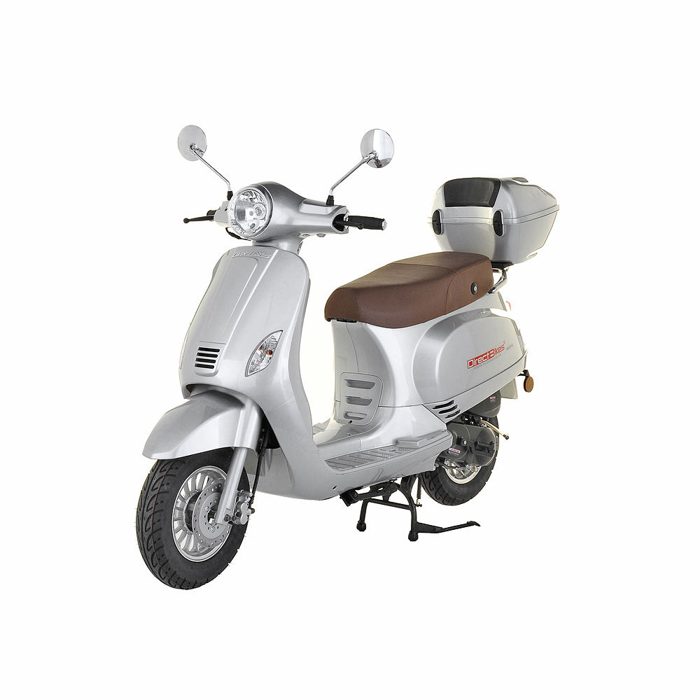 50cc scooter buy direct bikes milan 50cc scooters silver. Black Bedroom Furniture Sets. Home Design Ideas