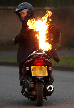 scooter flames