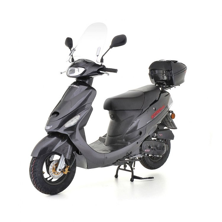 50cc scooter direct bikes 50cc sports scooters grey. Black Bedroom Furniture Sets. Home Design Ideas