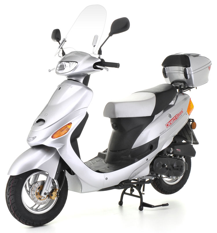 50cc scooter direct bikes 50cc sports scooters silver. Black Bedroom Furniture Sets. Home Design Ideas