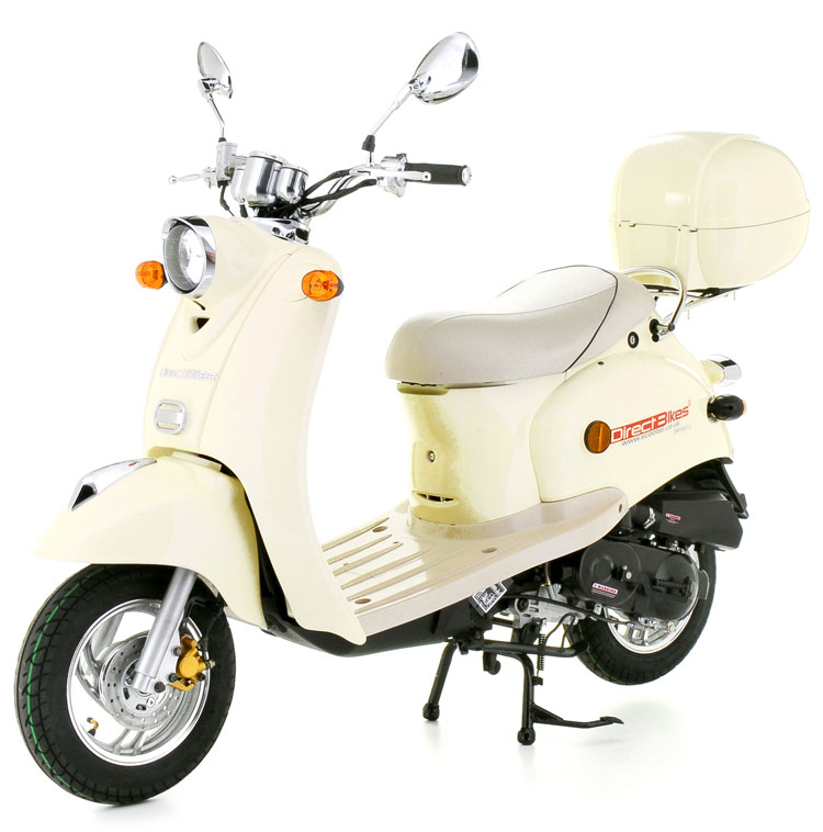 50cc scooter buy direct bikes retro 50cc scooters cream. Black Bedroom Furniture Sets. Home Design Ideas