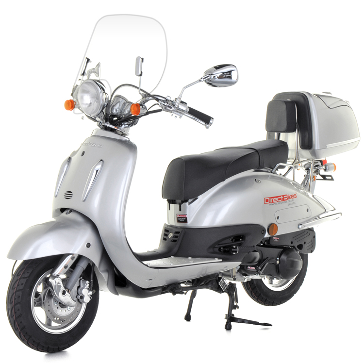50cc scooter buy direct bikes tommy 50cc scooters silver. Black Bedroom Furniture Sets. Home Design Ideas