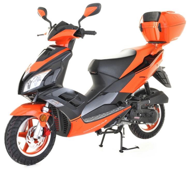 50cc scooter buy direct bikes viper 50cc scooters orange. Black Bedroom Furniture Sets. Home Design Ideas