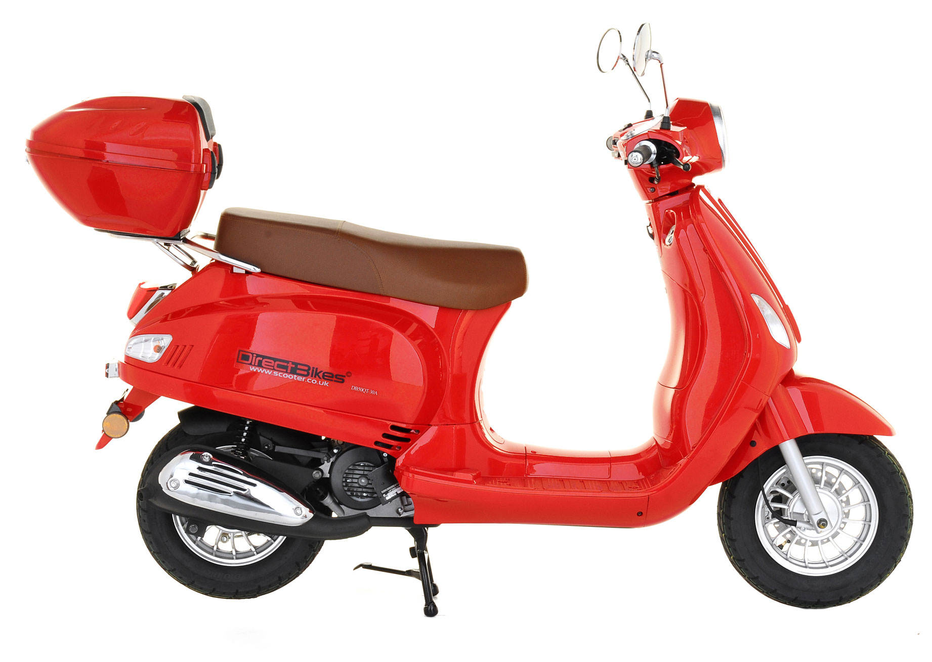 50cc scooter buy direct bikes milan 50cc scooters red. Black Bedroom Furniture Sets. Home Design Ideas