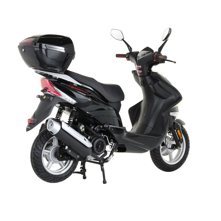 50cc scooter buy direct bikes spyder 50cc scooters black. Black Bedroom Furniture Sets. Home Design Ideas