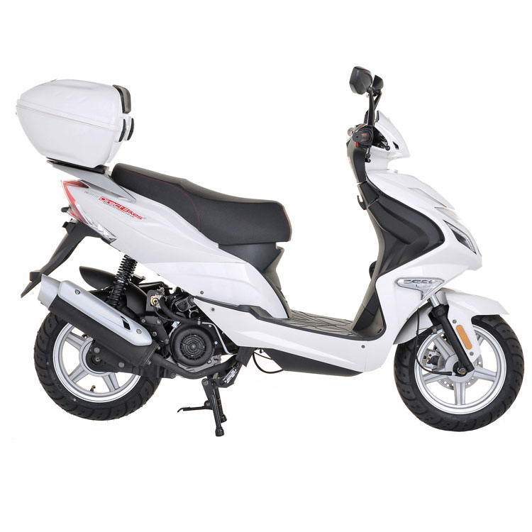 50cc scooter buy direct bikes spyder 50cc scooters white. Black Bedroom Furniture Sets. Home Design Ideas